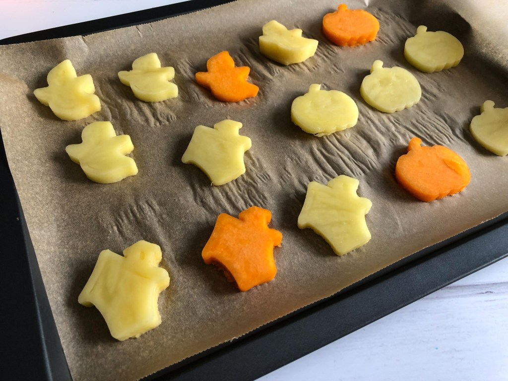 Halloween roasted vegetable shapes