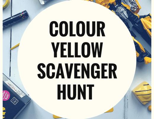 The colour yellow scavenger hunt
