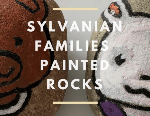 Sylvanian Families painted rocks