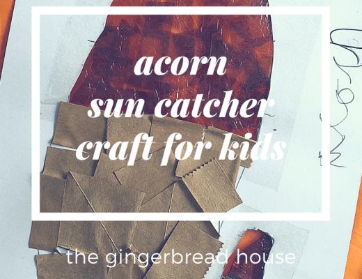 Acorn sun catcher craft for kids