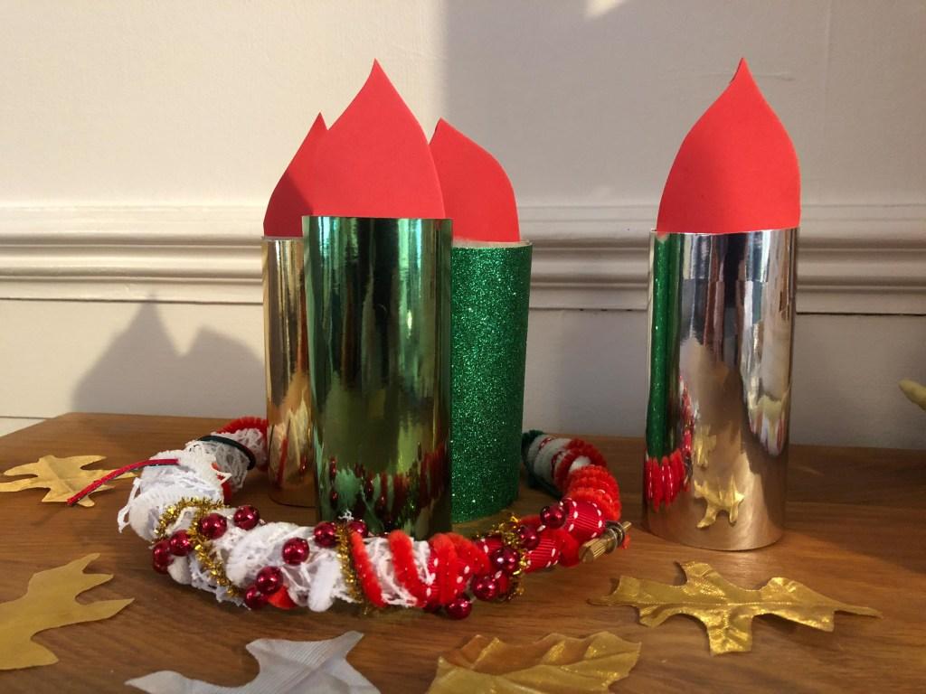 advent candle wreath craft