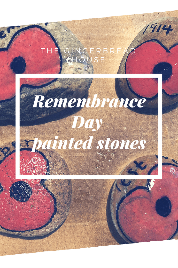 DIY Remembrance Day painted stones