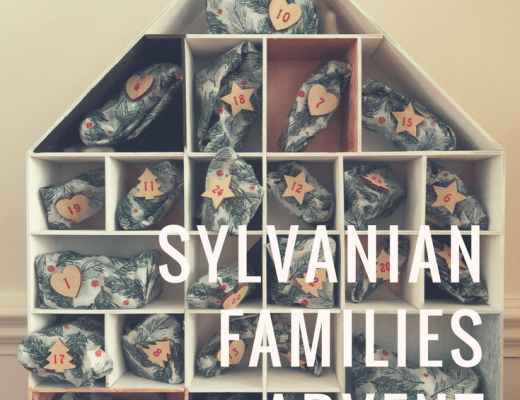 Our homemade Sylvanian Families advent calendar