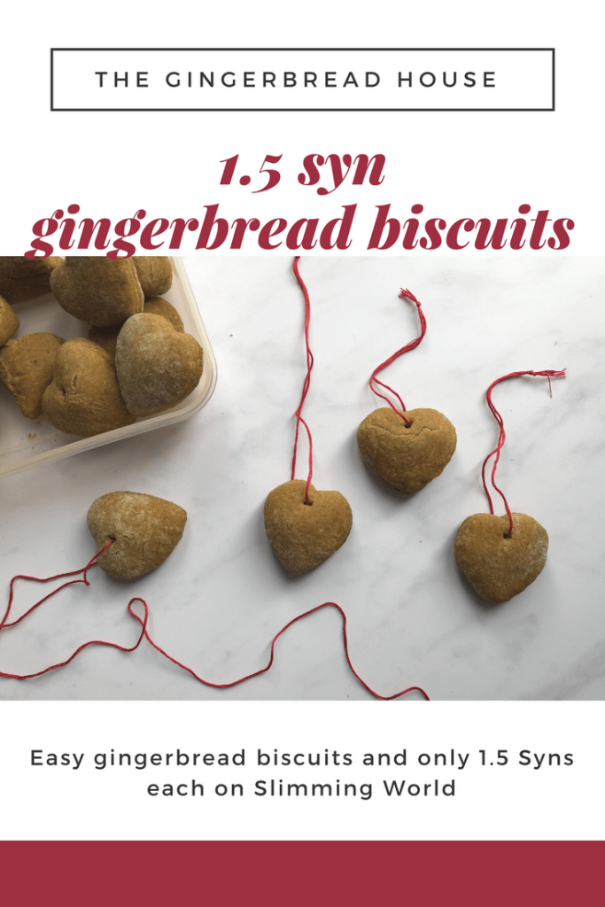 1.5 Syn gingerbread biscuits