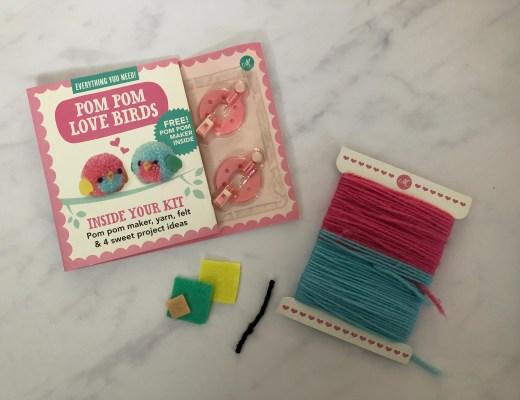 Mollie Makes pom pom love birds kit
