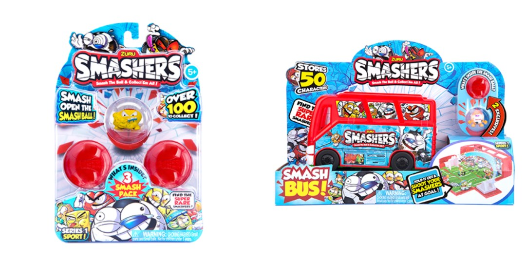Win Smashers Series 1 Team Bus and 3 pack