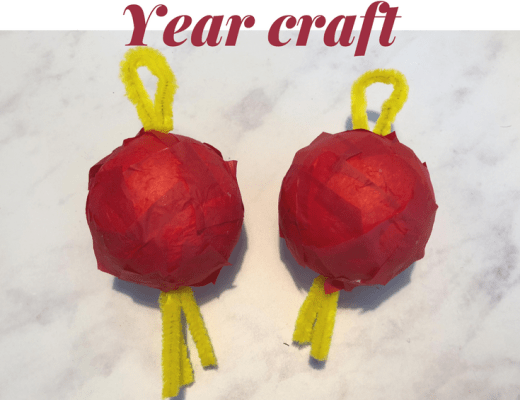 Chinese New Year lantern craft for kids to make