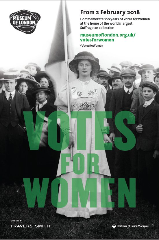 Votes for Women Museum of London poster