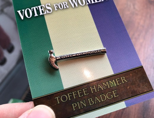 toffee hammer votes for women badge museum of london