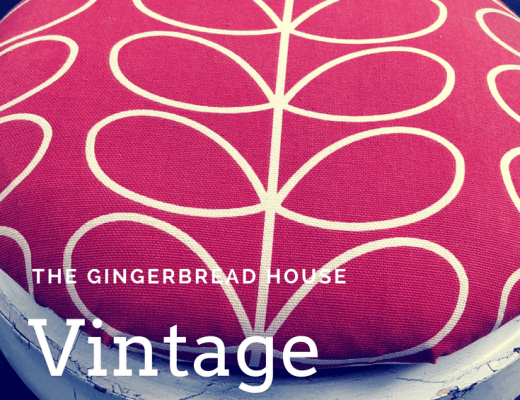Vintage foot stool makeover with Orla Kiely fabric
