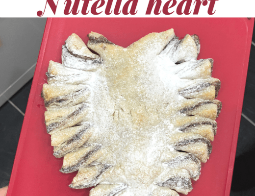 Puff pastry Nutella heart