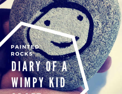 Diary of a Wimpy Kid painted rocks craft