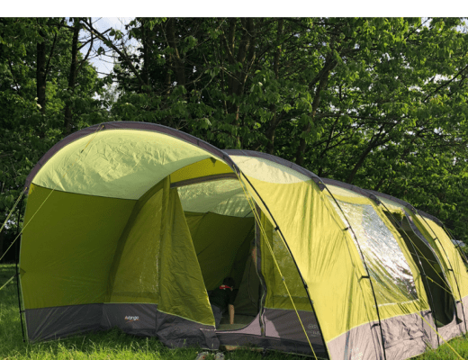 family camping trip with the Vango Anteus 600 6 Person Family Tent