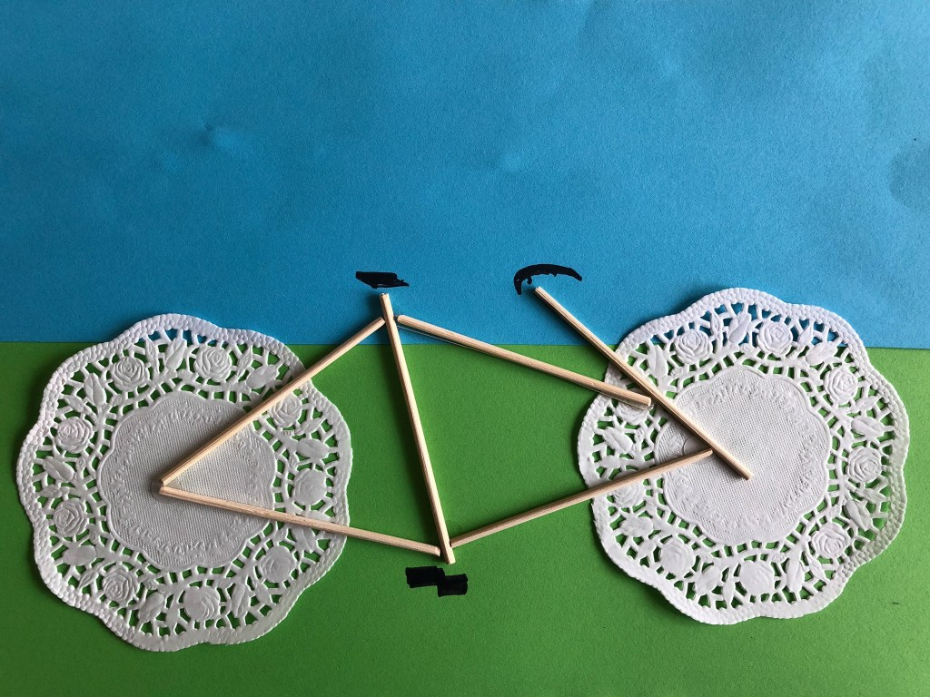 Tour de France bicycle craft for kids