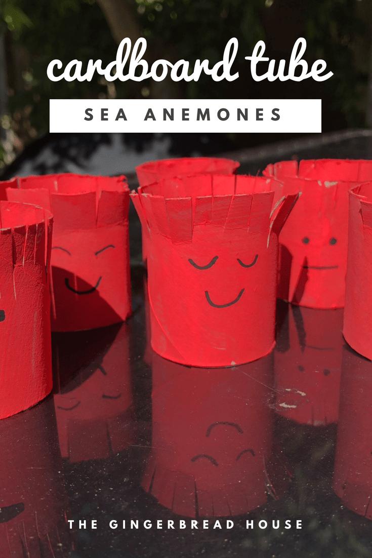 Cardboard tube sea anemones