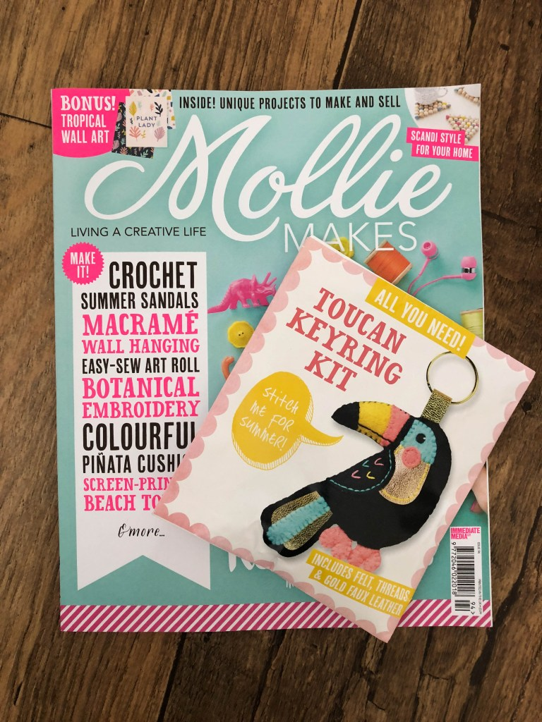 Mollie Makes with Toucan Keyring Kit