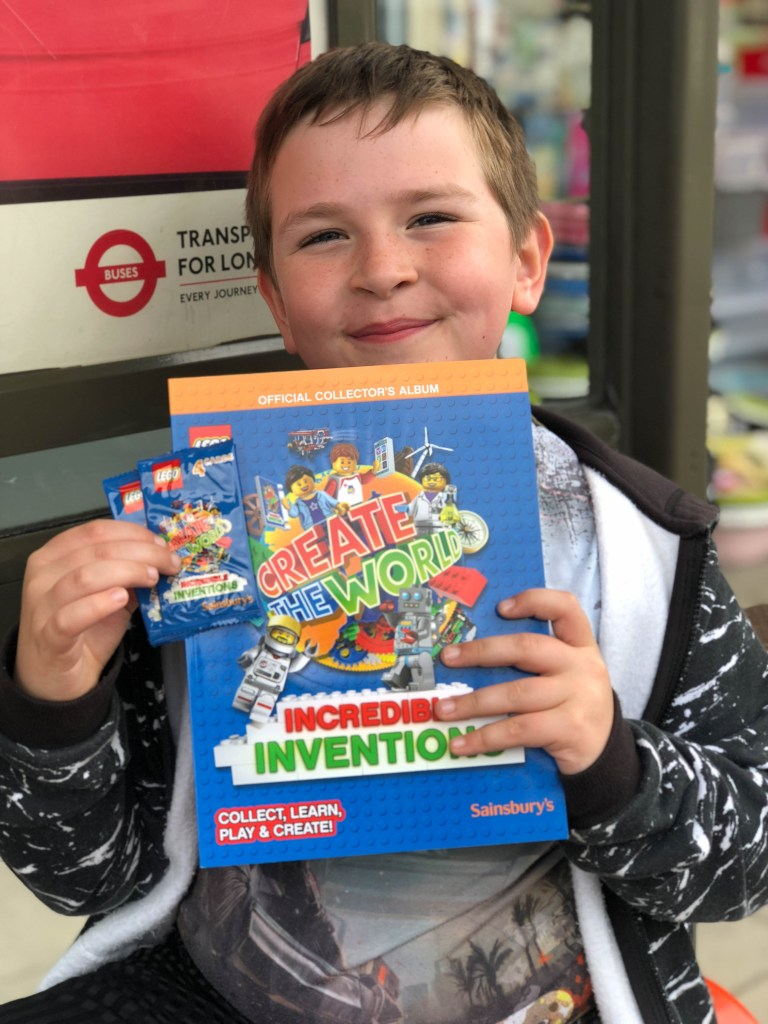 Lego Incredible Inventions album and cards in Sainsburys