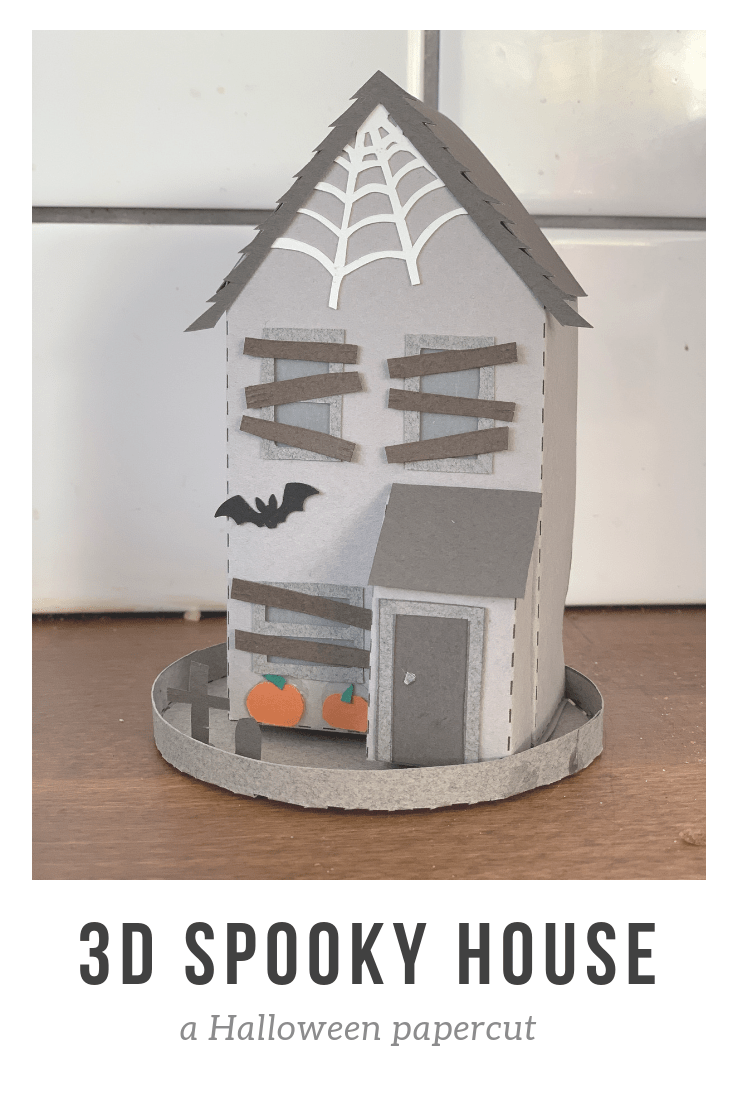 3D Spooky House papercut Halloween decoration