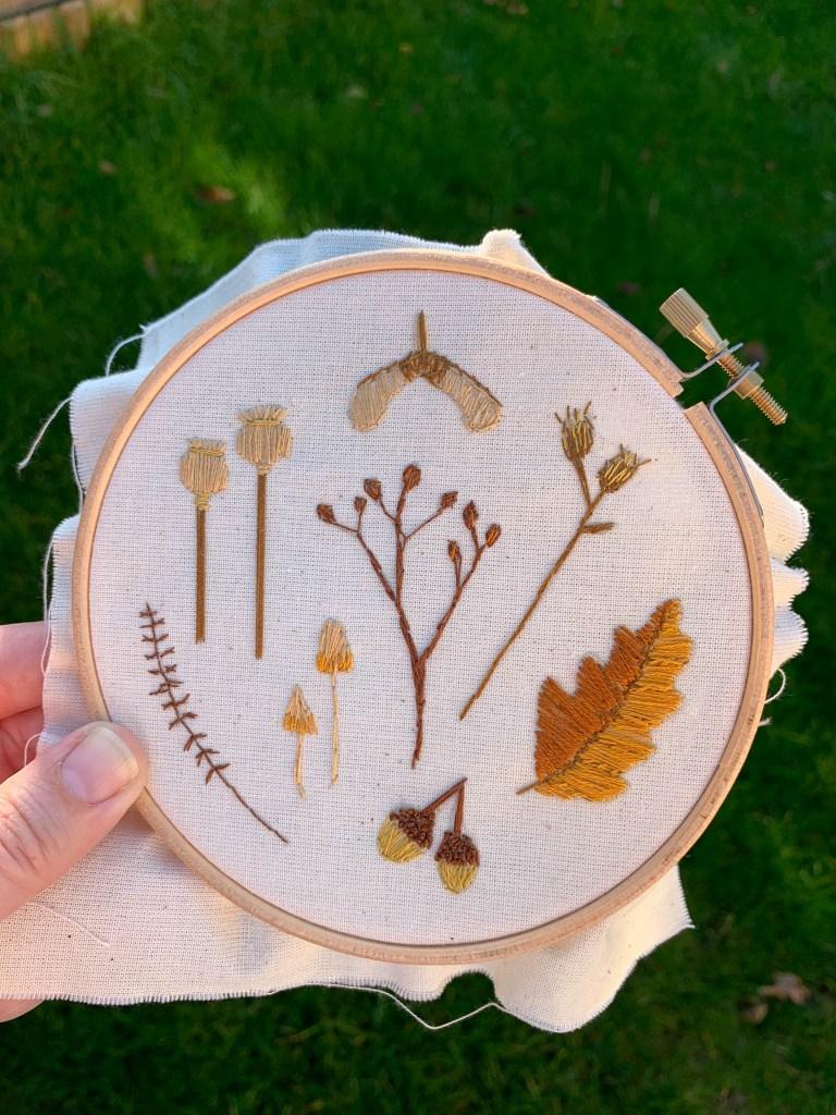 Autumn Craftpod box embroidery