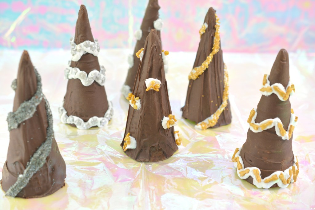 How to make New Year Party Hat treats