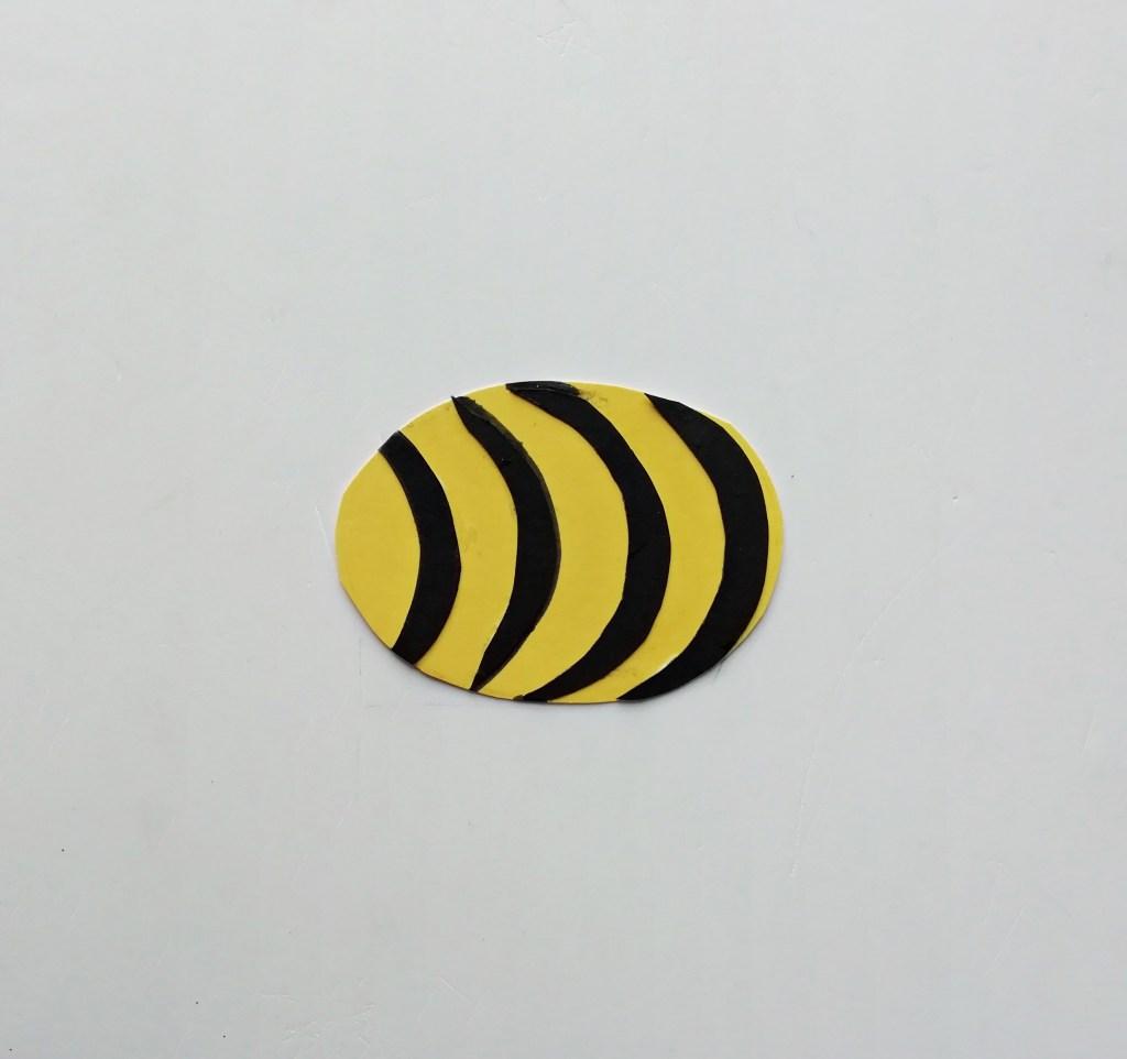 DIY paper Honey Bee Valentine's Day craft for kids