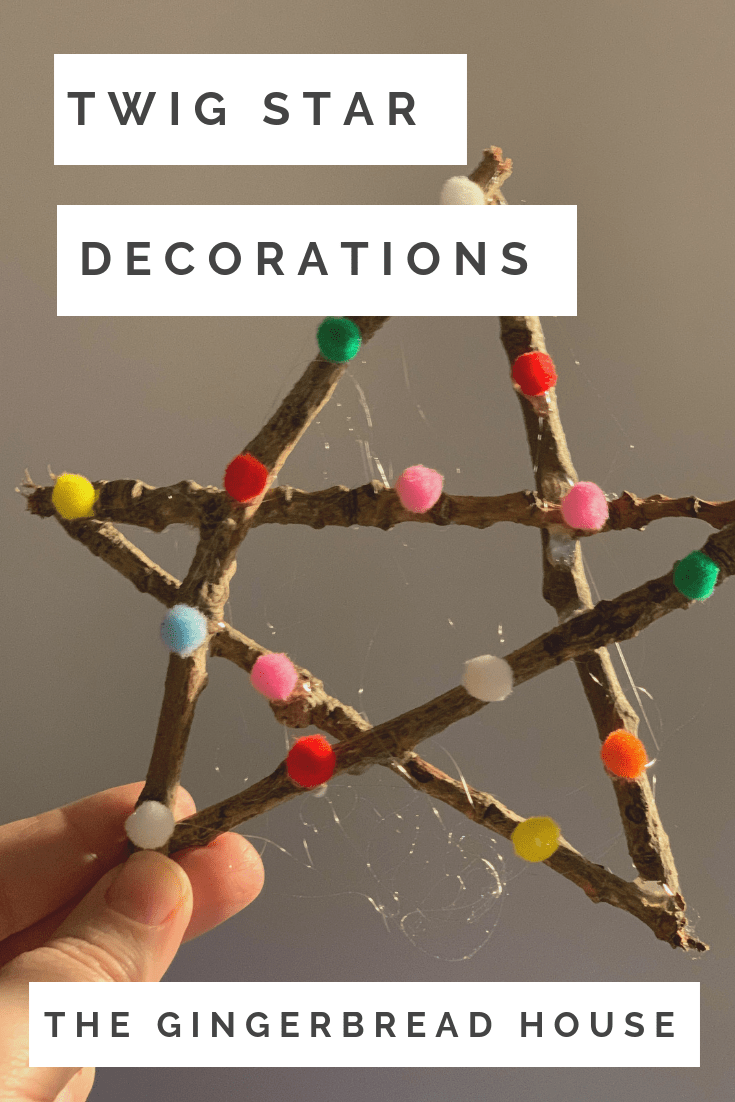 How to make a simple twig star decoration