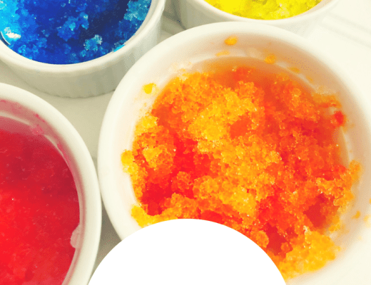 watercolour snow paint STEM activity for kids from the gingerbread house blog