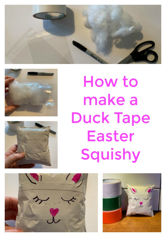 Duck Tape Easter Squishy tutorial from the gingerbread house