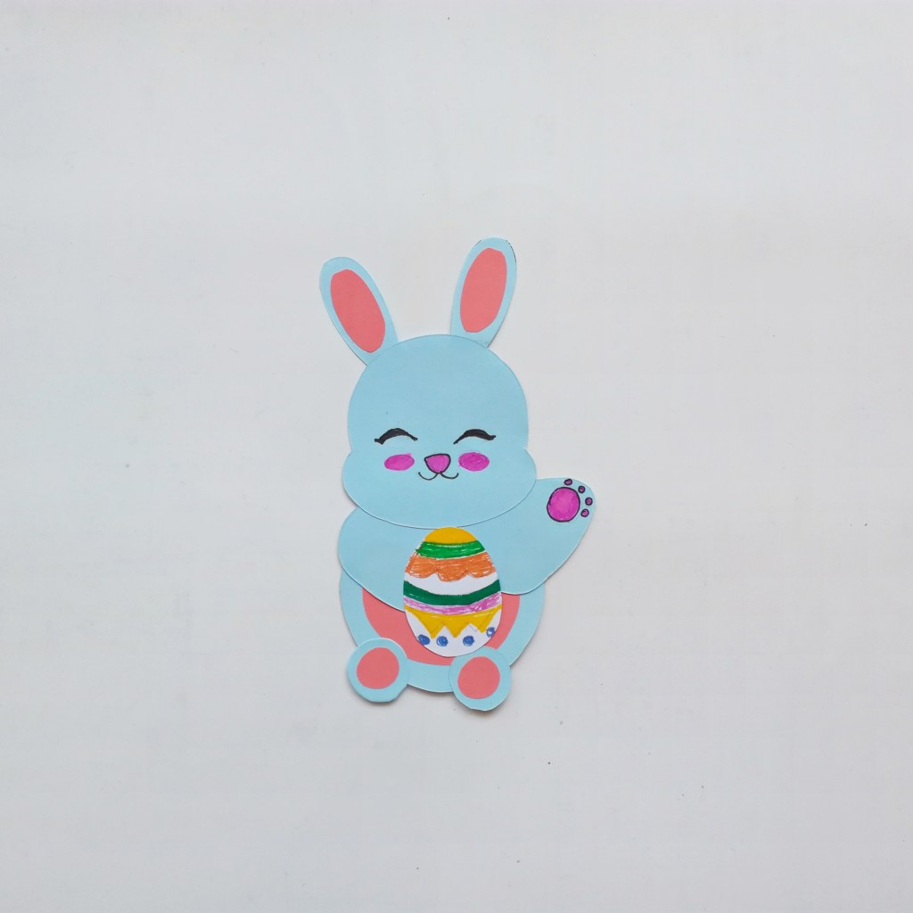 paper craft Easter bunny for kids