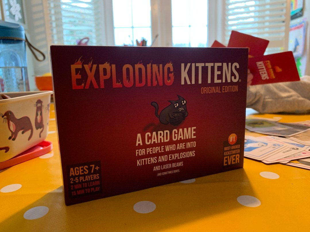 Blogger Board Game Club Review: Exploding Kittens