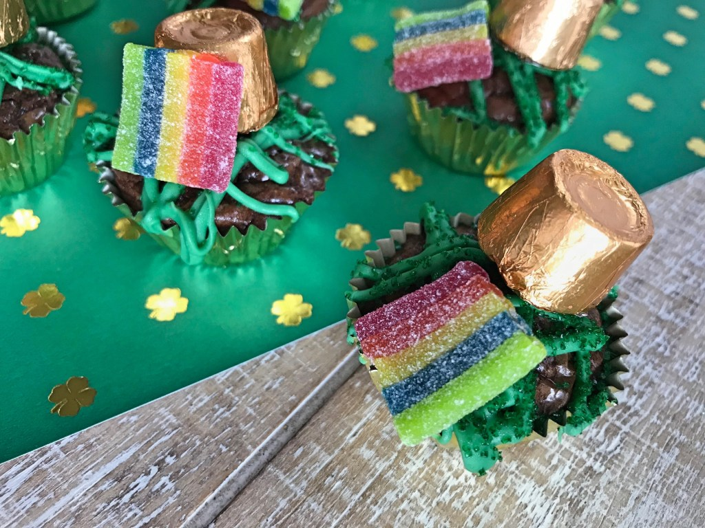 St Patrick's Day Brownie Bites