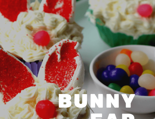 Sweet Bunny Ear cupcakes for an Easter treat
