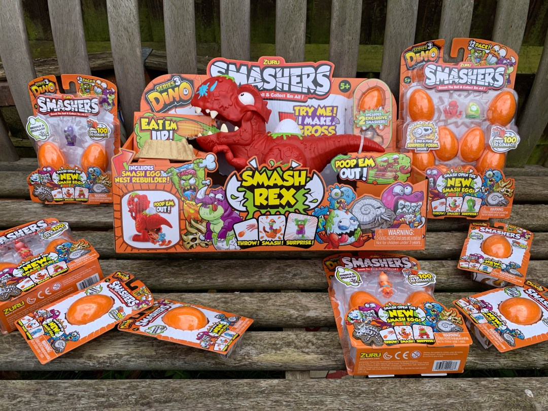 An Easter egg hunt with Smash Eggs and Dinosaurs