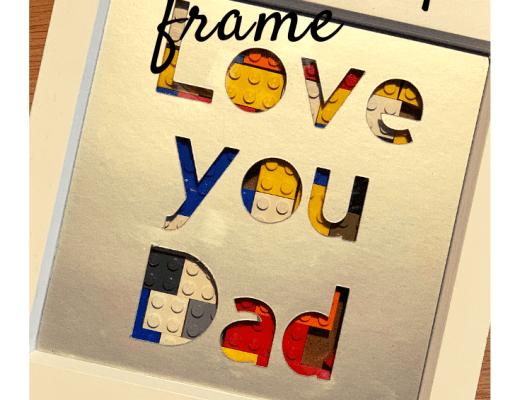 Cricut made Father's Day Lego frame