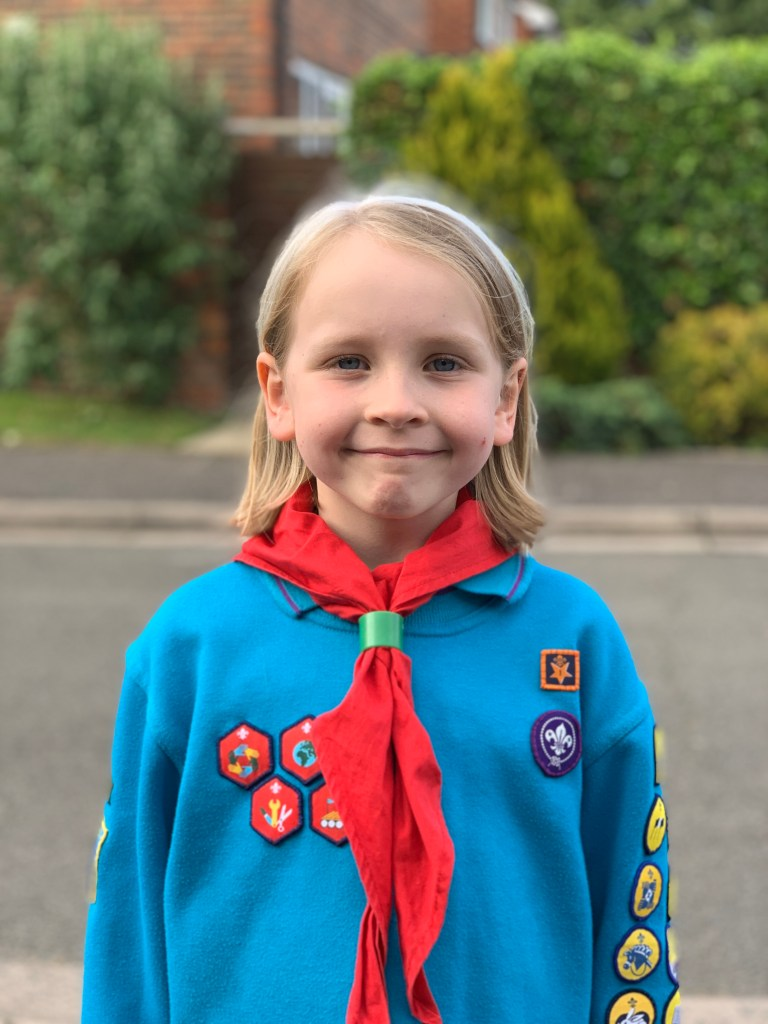 girl in Beaver uniform