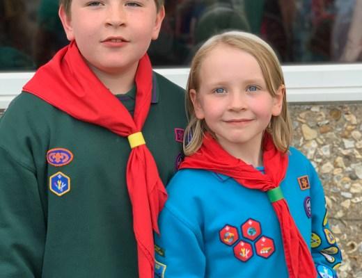 children wearing Cubs and Beaver uniform
