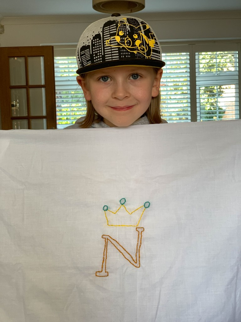 simple monogrammed pillowcase craft for kids