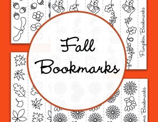 {Free printable} Autumn bookmarks to colour