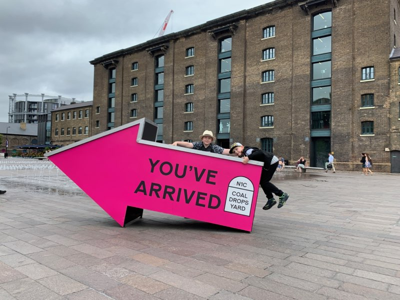 large sign at Kings Cross