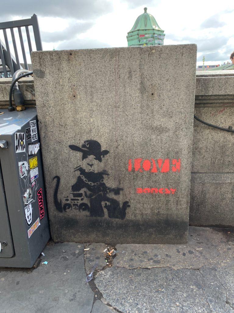 Bansky painting by Westminster Bridge