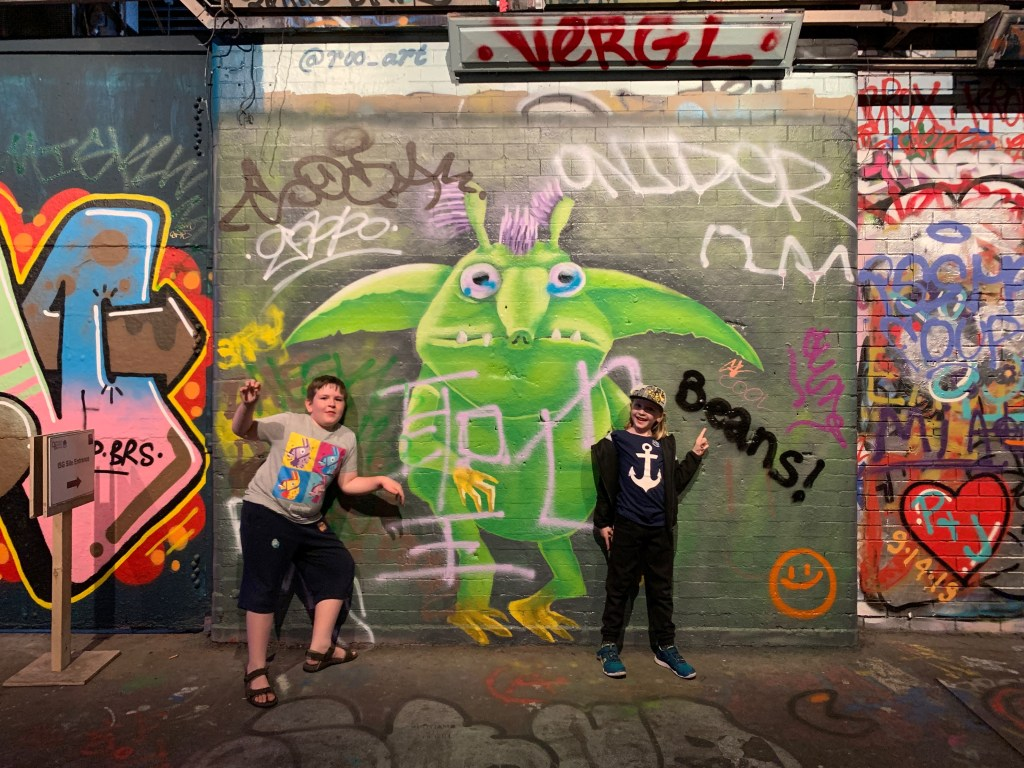 The Leake Street Tunnel and kids