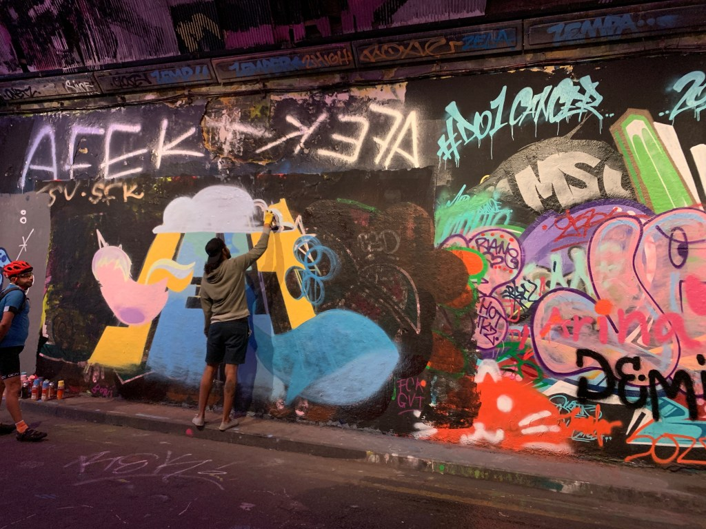 How did Leake Street become a place for street art?