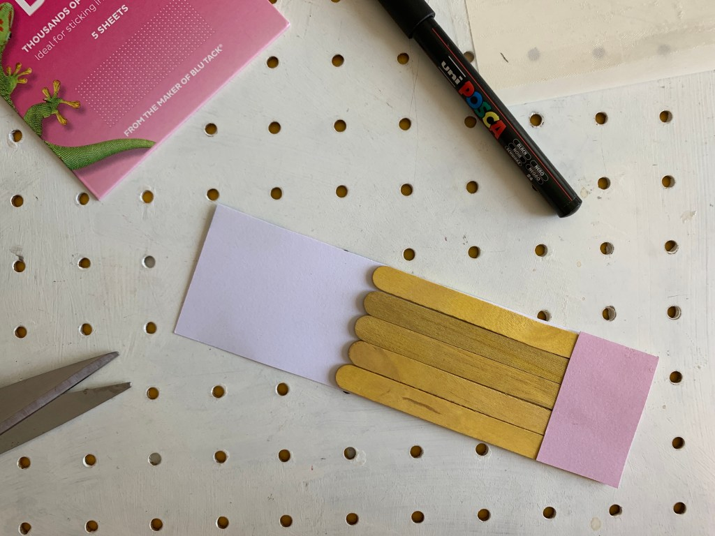 How to make a craft stick pencil craft