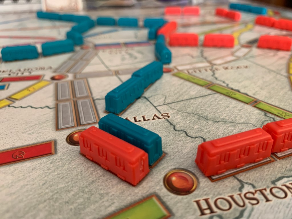 playing Ticket To Ride with kids