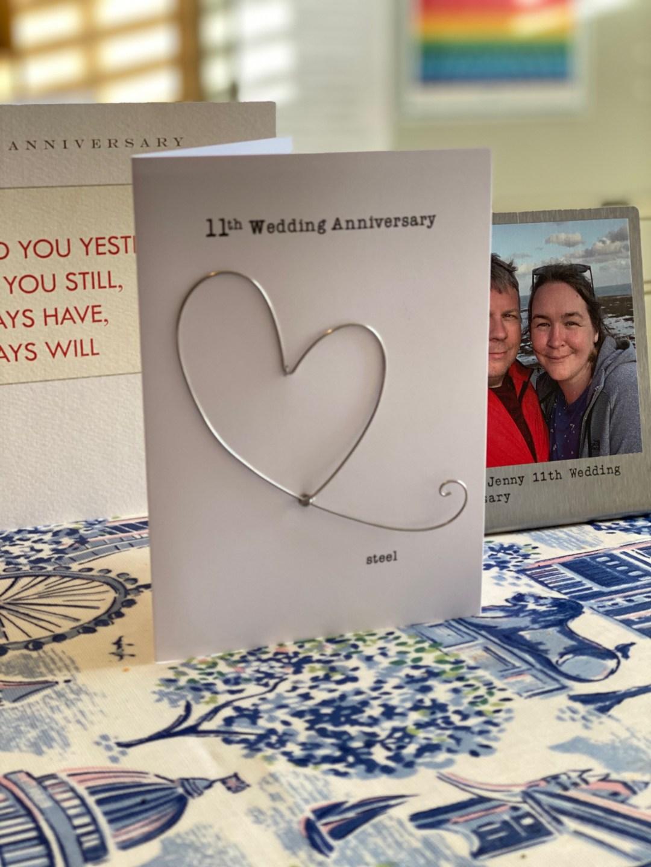 11th wedding anniversary card