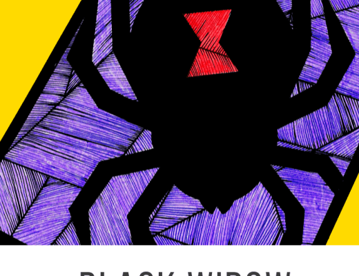 Black Widow Spider line activity for kids
