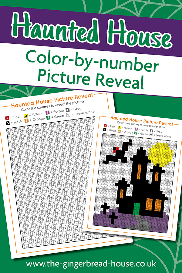 Halloween Haunted House colouring activity for kids