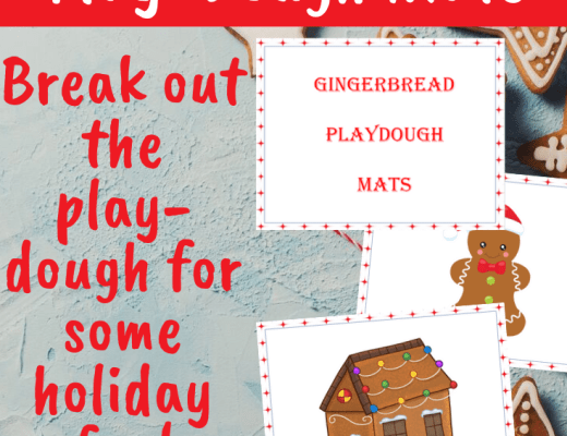 Gingerbread playgdough mats