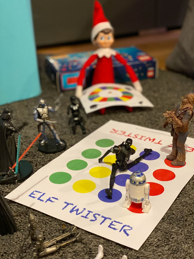 Elf on the Shelf Twister game