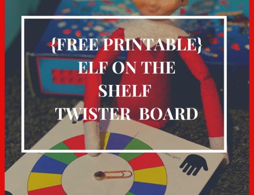 {free printable} Elf on the Shelf Twister game